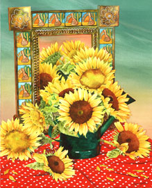 126 - Sunflowers With Mexican Mirror