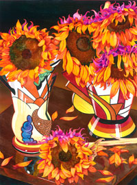 145 - Autumn Sunflowers